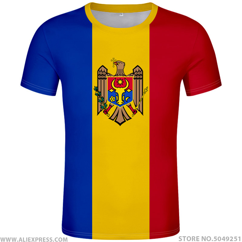MOLDOVA T Shirt Diy Free Custom Made Name Number Mda T-shirt Nation Flag Md Republic Country College Print Photo Logo 0 Clothing