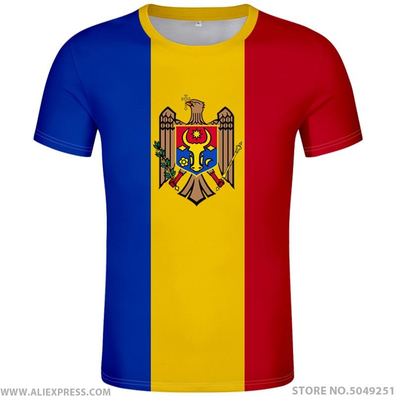 MOLDOVA T Shirt Diy Free Custom Made Name Number Mda T-shirt Nation Flag Md Republic Country College Print Photo Logo 0 Clothing