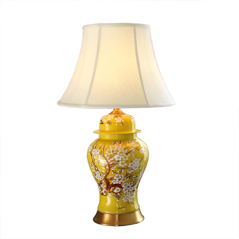 Schlafzimmer Vintage Tisch Lampe China Wohnzimmer Tischlampe Fr Hochzeit Dekoration Keramik Kunst Blume Und Vogel Bad