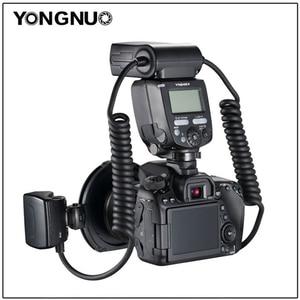 Image 3 - Yongnuo YN 24EX الماكرو حلقة فلاش speedlite مع 2 رئيس 4 محول خواتم لكانون كاميرا فلاش
