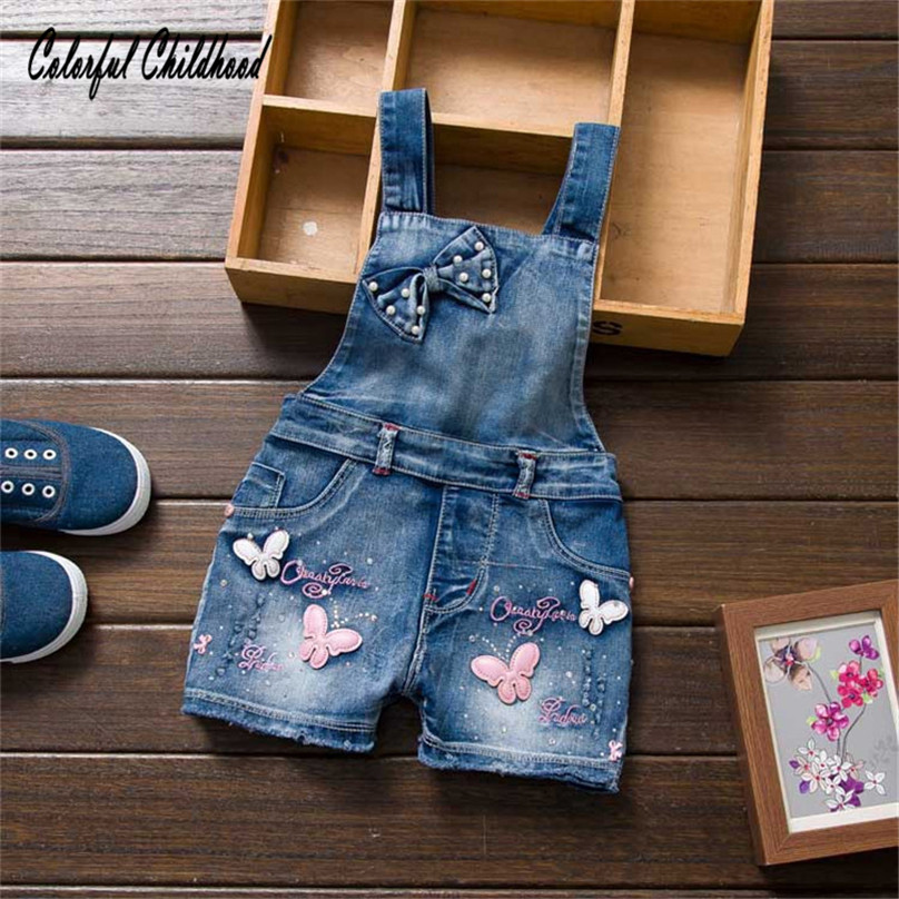 Schattige Baby Kleding Set Zomer Mouwloze Halter Overalls Peuter Meisjes Vlinder Ontwerp Jumpsuit Kinderkleding 1-5yr