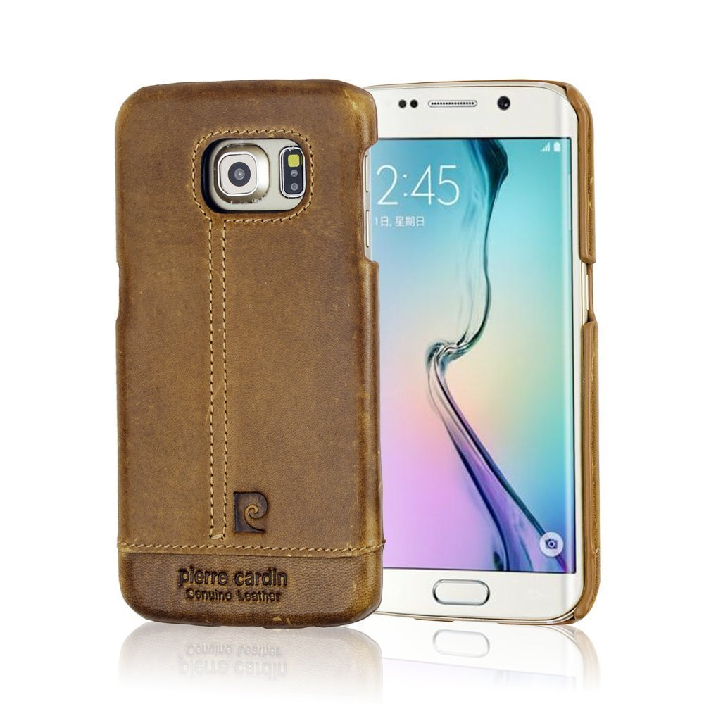 wholesale dealer 63b2d 4d457 US $15.99 |Pierre Cardin Premium Original Genuine Leather for Samsung  Galaxy S6 Edge S8 Plus S7 Edge Note 4 5 Ultra Slim Back Cover Case-in  Fitted ...