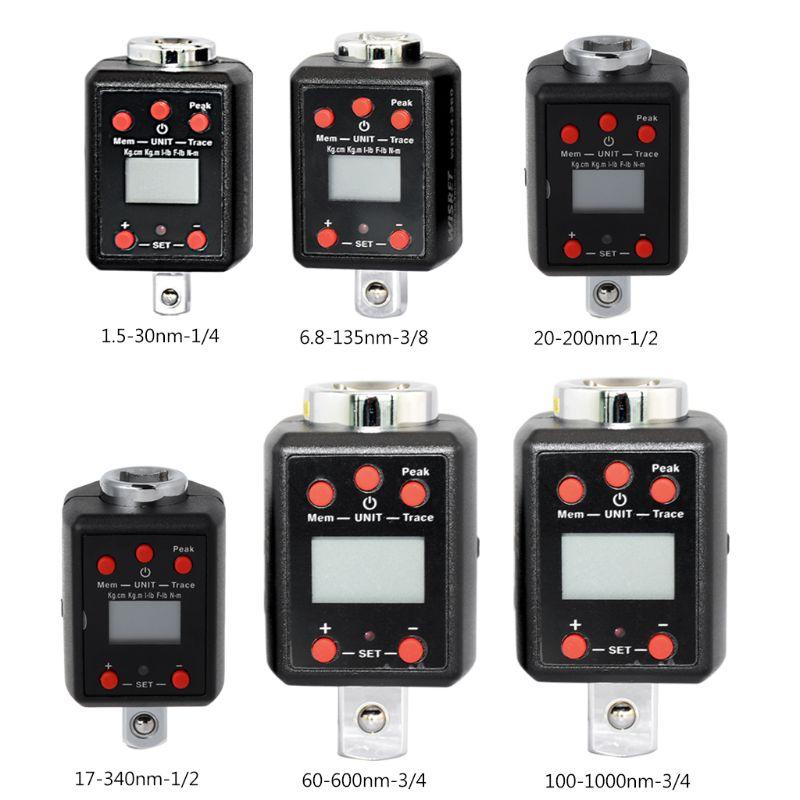 Numérique De Haute Précision Numérique Clé Dynamométrique 1.5-1000nm Adaptateurs 1/4 3/8 1/2 3/4 Lecteur Microtorque