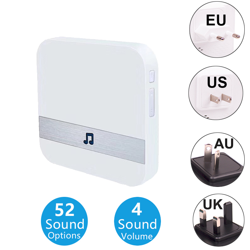 AC 90-250V Smart Indoor Doorbell Wireless WiFi Door Bell Chime US EU UK AU Plug XSH App For EXSKOF Wifi Doorbell