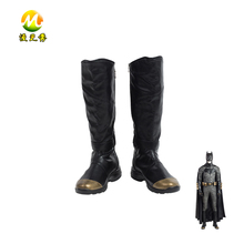 Justice League Superhero Batman Boots Male Female Accessories Halloween Cosplay Shoes Black Color