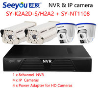 Seeyou 1080P Security Camera Kit NVR Surveillance IP Camera SY K2A2D S H2A2 Security CCTV System