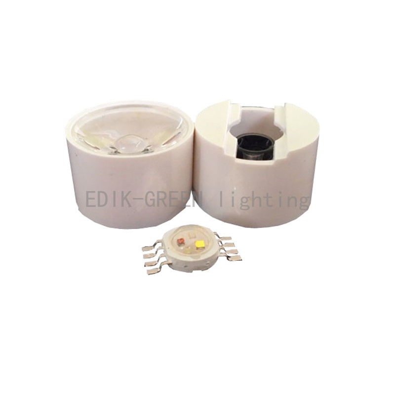 20X Supper bright 45mil Epileds chip 8 pin 12W RGBW high power LED + 21mm led lens with holder free shipping