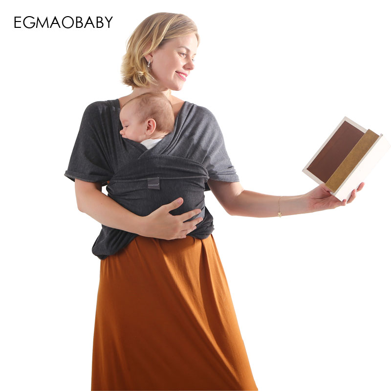 купить EGMAO Baby Carrier Sling For Newborns Soft Infant Wrap Breathable Wrap Hipseat Breastfeed Birth Comfortable Nursing Cover недорого