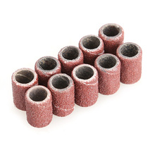 High Quality Abrasives Accessories 100PCS Manicure Salon Sanding Band Drill File Machine Bits Ring For Nail Art  AA
