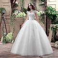 Lace Querida Curto Vestido de Casamento 2016 Barato Plus Size Elegantes Vestidos de Noiva Do Vintage vestido de Baile vestido de noiva WD2819