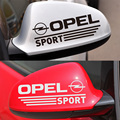 1 Pair Customizable SPORT Car Rearview Mirror Stickers Decal Car-Styling For Opel astra h corsa zafira insignia vectra b antara