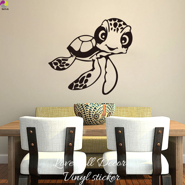 Cartoon Finding Nemo Turtle Wall Sticker Baby Nursery Kids Room Cute Ocean Sea Animal Decal