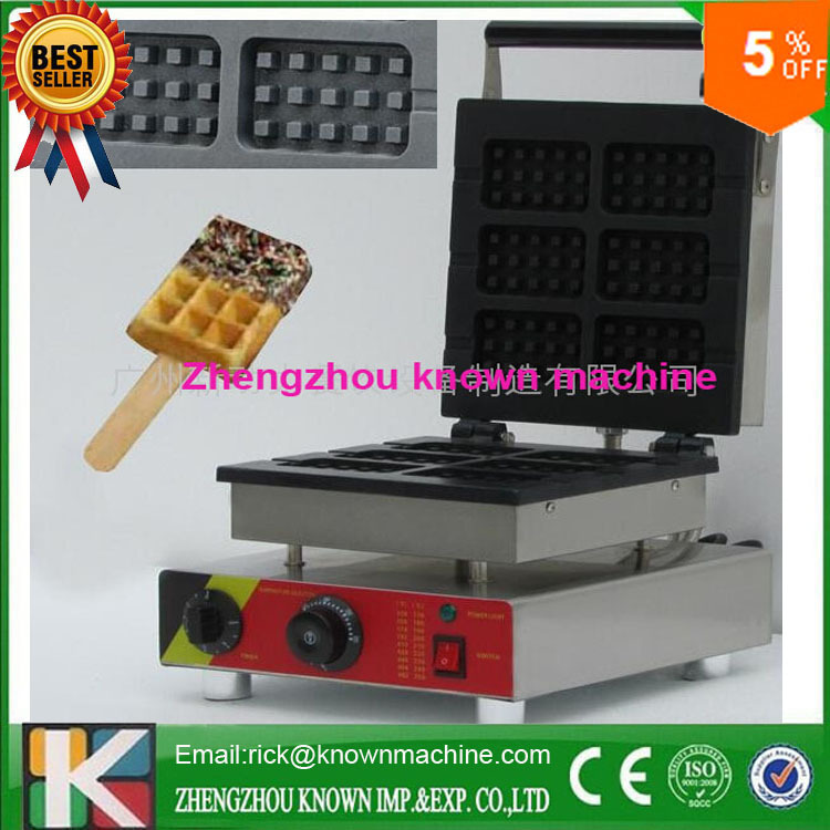 commercial price square 6 pcs egg waffle machine / waffle machine gas / electric 110v 2017 new design full automatic commercial snakes waffle making machine electric egg tarts baking machine price