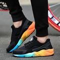 Plus Size46 Fashion Couple shoes Flats Casual Air Mesh Sport Shoes Men Gym Shoes Basket  Femme Deportivas Mujer Men's Trainers