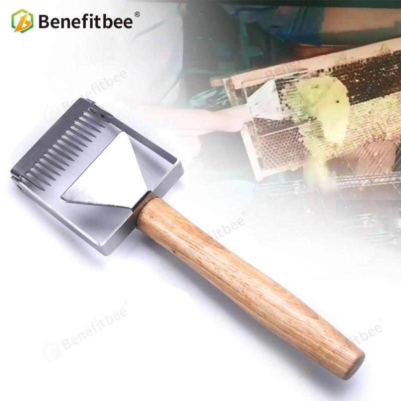 Benefitbee Entdeckeln Gabel Eisen Waben Honig Schaber Holzgriff Bienenzucht Werkzeug Apicultura Ausrüstung Entdeckeln gabel