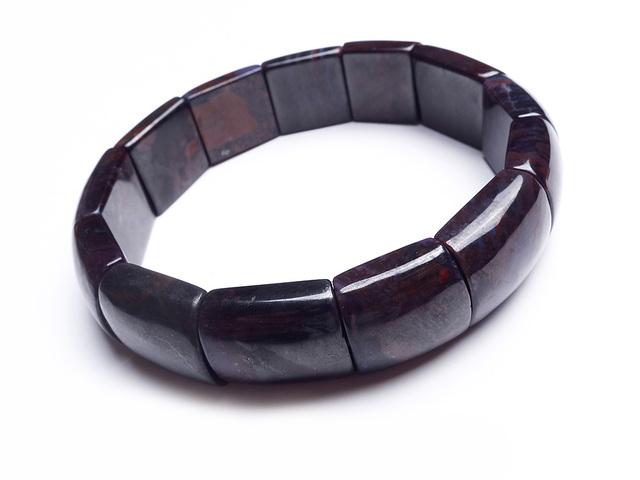 Retângulo Beads Estiramento Pulseiras Para Mulheres Lady Genuine Natural Sugilite Pedra Charme Pulseira Frete Grátis
