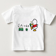 Childrens summer T-shirts digital prints T-Shirts little ducks and birds singing pekkle3-15 years old boy/girl tshirt