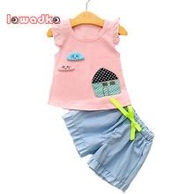 lawadka bebs que arropan el sistema nios chaleco pantalones cortos set de ropa infantil de