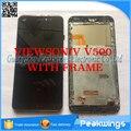 5 pçs/lote para viewsonic v500 v500-3 coship f2 painel digitador da tela de toque com display lcd de tela completa