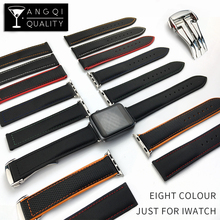 Nylon Leather Watchband IWatch Series 2 for Apple Stainless Buckle 38mm 42mm