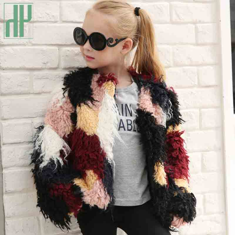 Kids jackets for girls Baby faux fur coat girls jacket children Outerwear Thick Warm girls coats and jackets windbreaker coat girls jackets and coats 2018 new brand outdoor baby windbreaker coats kids warm capes children winter outerwear girls clothing