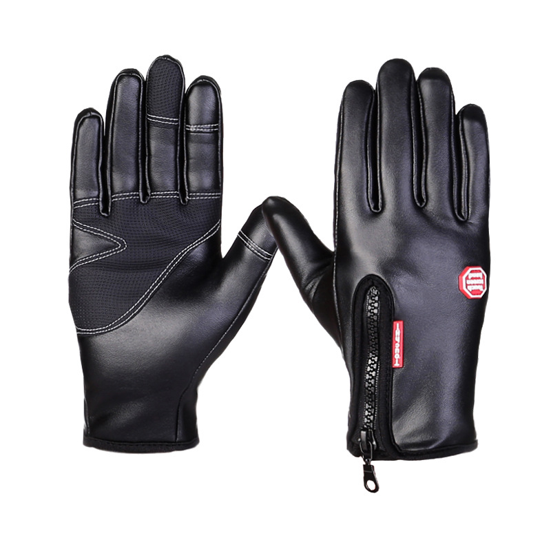 New PU Waterproof Horse Riding Gloves Touch Screen...