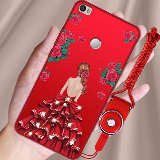 2pcs For Xiaomi mi max Case capas fashion cartoon girls soft shell For Xiao mi mi max Battery back Cover Phone Case Coque