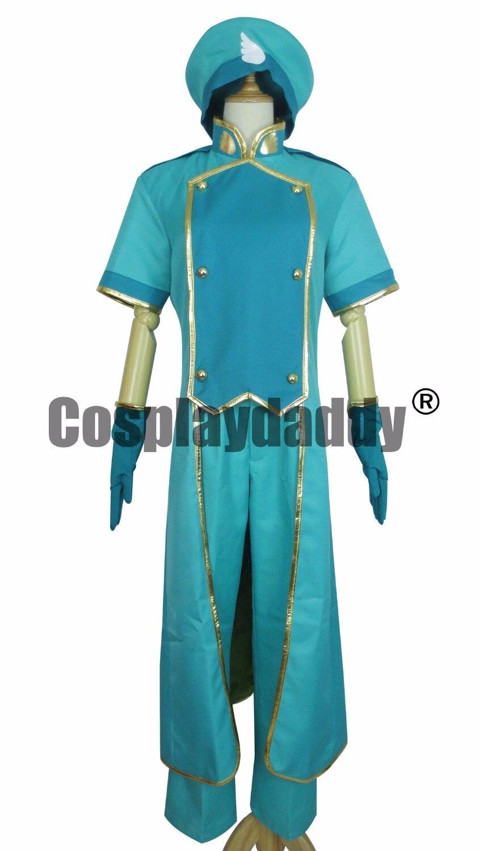 Cardcaptor Sakura Syaoran Li Showron tenue uniforme vert Costume Cosplay A018