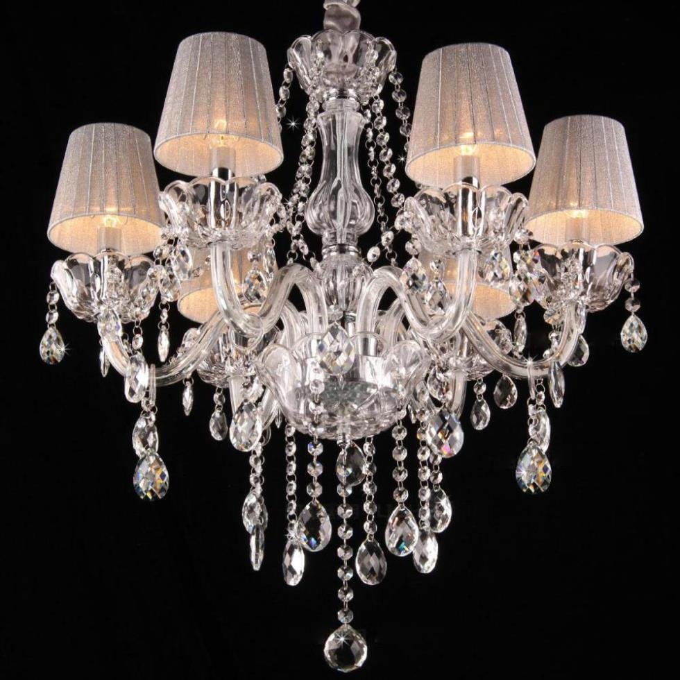 Aliexpress Com Modern Crystal Chandelier Lighting Lamps Fashion Art With Lampshades Light Lamp Cover Luxury From