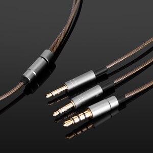Image 4 - כבל אודיו עם מיקרופון עבור Hifiman HE400S HE 400i HE560 הוא 350 HE1000 / HE1000 V2 מהדורה X V2 SUSVARA אריה הנדל XF 200
