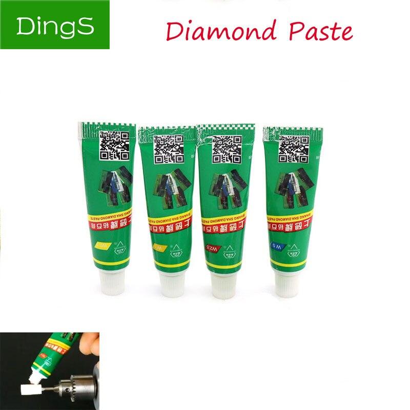 12pcs/Set Polishing Paste  W0.5-W40 Diamond Abrasive Metal Polish Needle Tube Lapping Compound Metal Jade Amber Buffing Tool