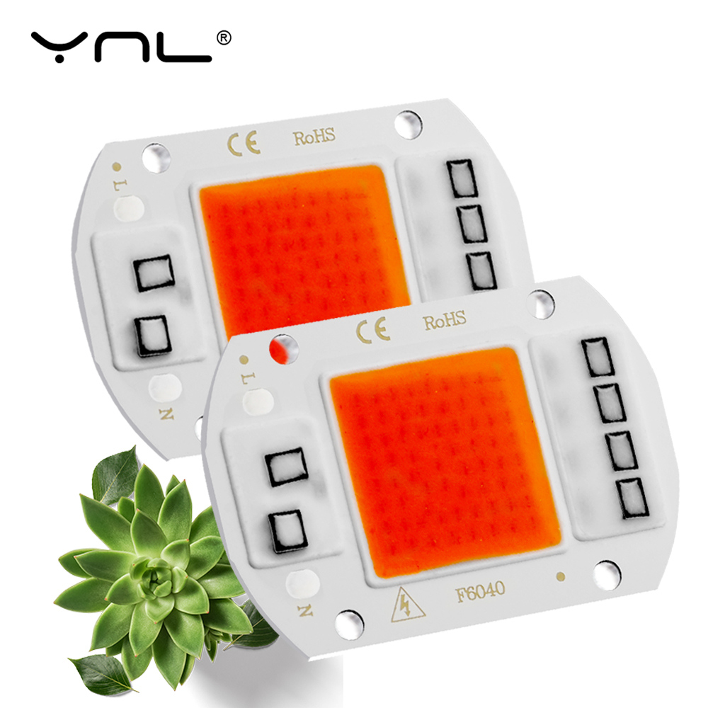 LED COB Grow Plant Lights Chip AC 220V 20W 30W 50W Full Spectrum Bombilla Para LED Growing Light For Indoor Plants Seeds Flowers
