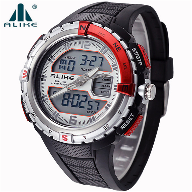 50m waterproof outdoor relogio masculino sports watches men led digital watch quartz military for Outdoor watches