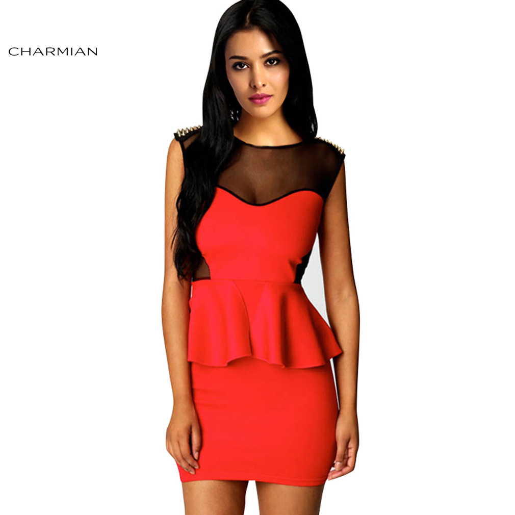 dress - Coral strapless peplum dress video