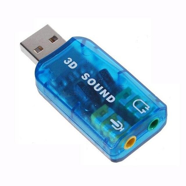 800X USB כדי 3D אודיו USB חיצוני כרטיס קול מתאם 5.1 ערוץ קול מקצועי מיקרופון 3.5mm ממשק דה אודיו