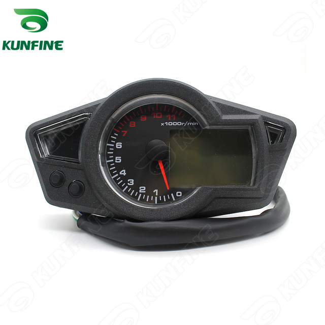 Universal Motorcycle tuning parts 11K RPM LCD Blue Backlight Digital Odometer Speedometer Tachometer for Motorcycle