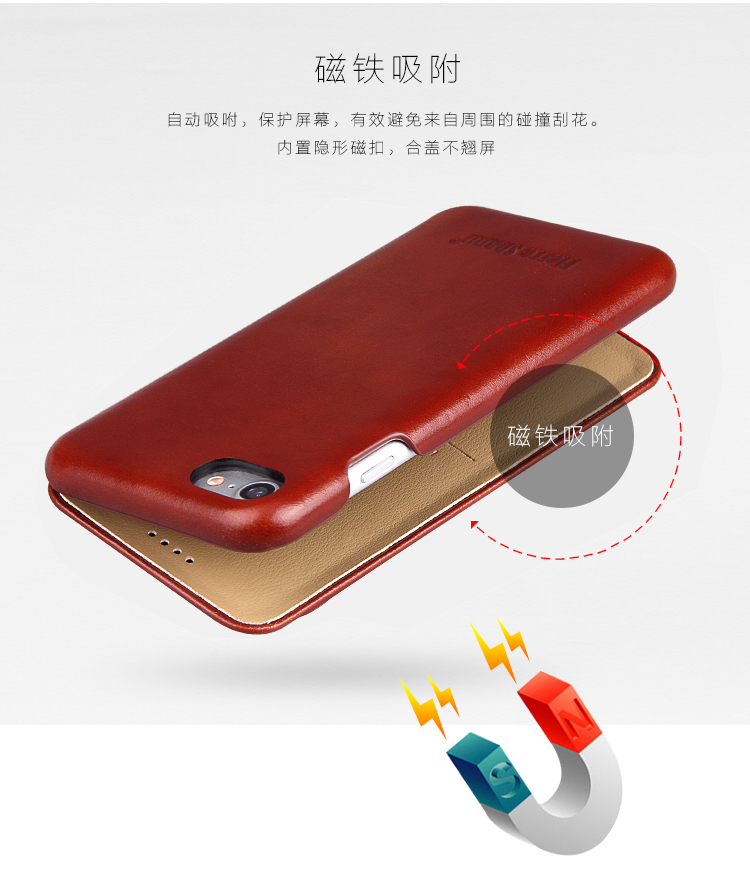 B6 Fierre Shann Super Luxury Genuine Leather Case For iPhone X XR XS Max 6 6S 7 7plus 8 8plus Flip Phone Cases Cover Capin Shell