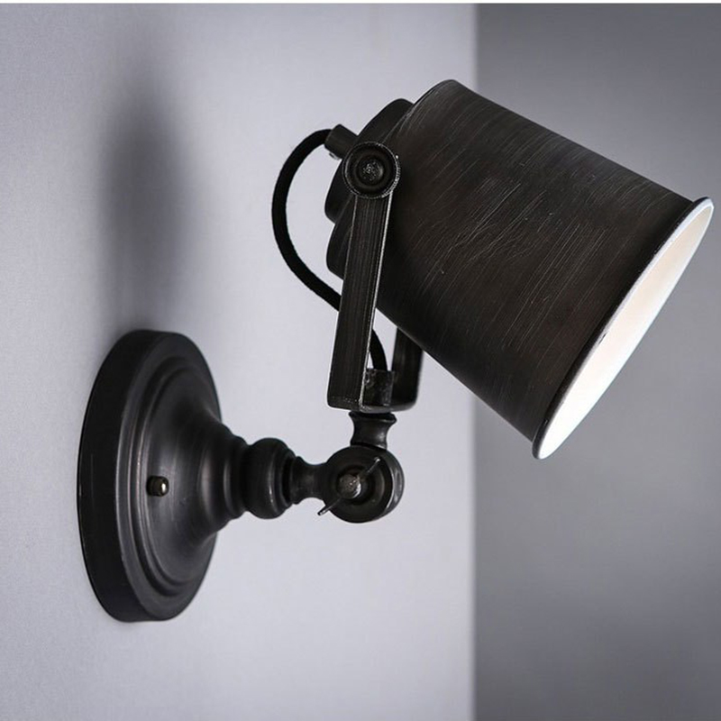 Industrial Vintage Wall Lamps Black Wall Light for Bar Coffee Entrance Bar Coffee Shop Fixture Luminaire Wall Sconce G099Industrial Vintage Wall Lamps Black Wall Light for Bar Coffee Entrance Bar Coffee Shop Fixture Luminaire Wall Sconce G099