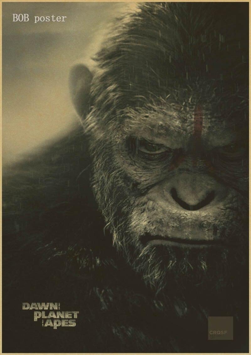 Animals Funny Paper Home Decor Vintage Poster Orangutans Kraft Retro