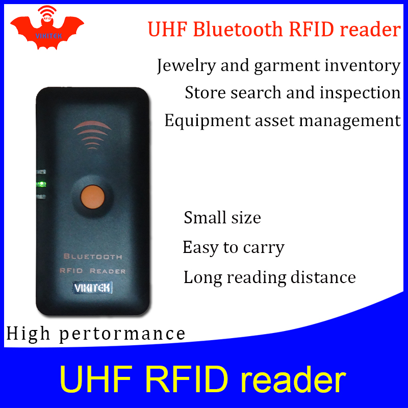 UHF RFID Reader Pocket Portable Handheld Reader Bluetooth Connect To Mobile Phone Easy Use Small Rfid Tag Scanner Writer Copier