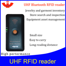 цена на UHF RFID reader pocket portable handheld reader bluetooth connect to Mobile phone easy use small rfid tag scanner writer copier