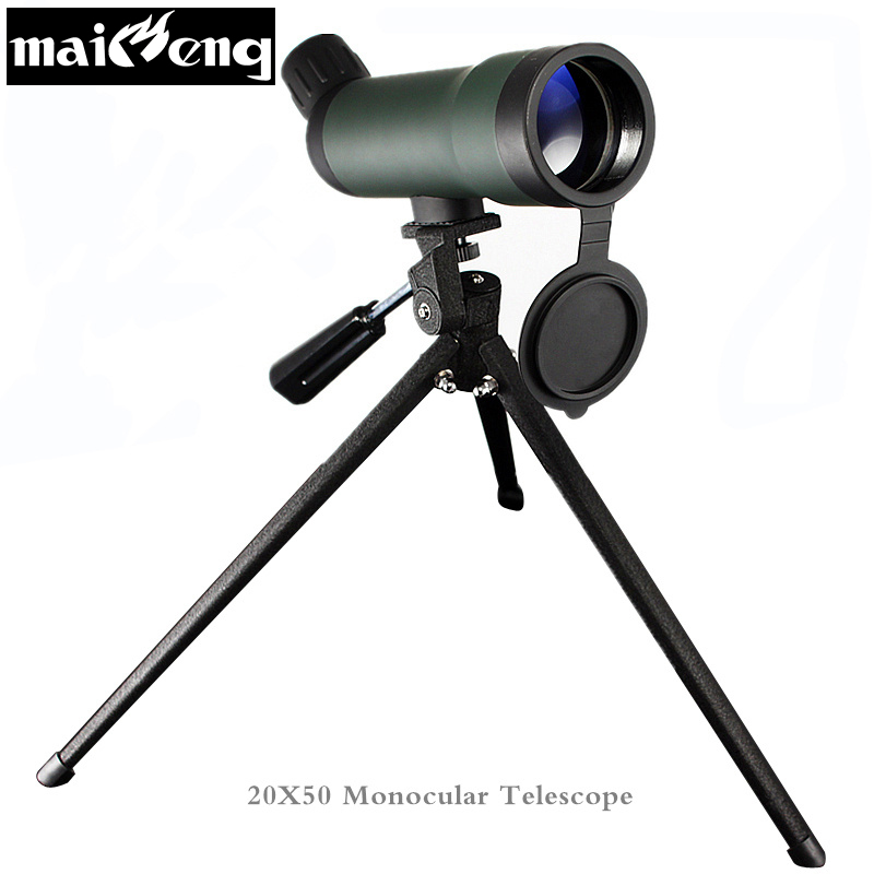 Hd Telescope <font><b>20X50</b></font> Professional monocular Telescopic with Tripod for Bird-watching Mini Astronomical Spotting Scope High quality image