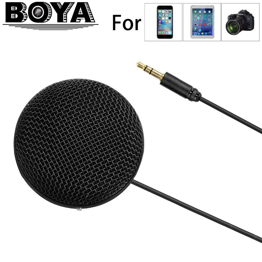 BOYA BY-MM2 Microphone stéréo à condensateur omnidirectionnel pour iPhone 8 8 plus 7 Canon Nikon appareil photo reflex numérique Sony caméscope Panasonic
