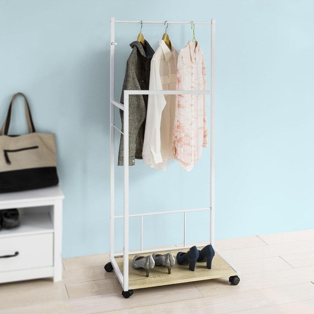 últimos diseños diversificados estilo distintivo precio Comprar SoBuy FRG218 WN, Perchero Burro Con Ruedas Para ...