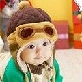 Pilot Eyeglasses Earflap Fleecy Cap Winter Beanie Baby Kids Boy Girl Warm Hats S14