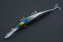 1Pcs 14.5cm/13.2g Minnow Fishing Lure Laser Hard Artificial Bait 3D Eyes Boat Sea Wobblers Crankbait Minnows Lures