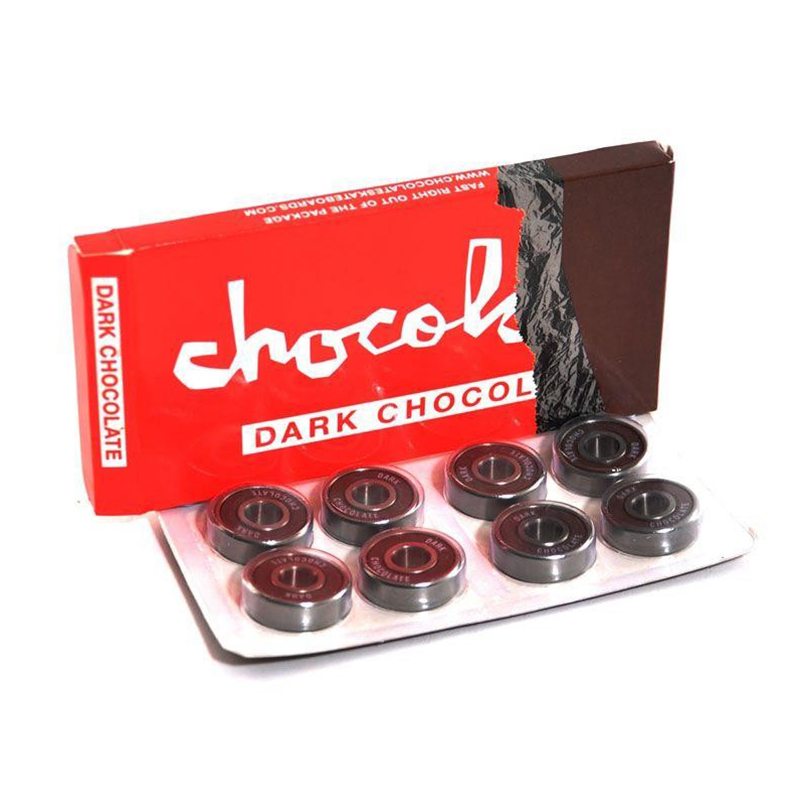 Original Chocolate Skateboard Bearing 8pcs/Box Dark Chocolate ABEC-3 Chrom Steel Speed Bearings For Skateboard