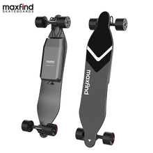 Maxfind Long Range Dual Motor Remote Bluetooth Max4 Electric Skateboard With One Or Two Extended Battery