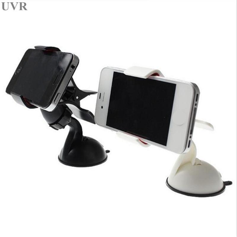UVR Car Bracket Car Holder Universal For Mount Mobile Phone Stand Holder In Car For All Phone GPS Shelf Sucker Desk Holder