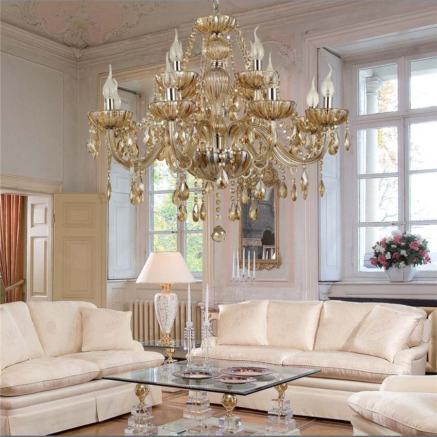 Chandelier Crystal Luxury Classic 2 Tiers Living 12 LightsLiving Room Bedroom Chandeliers Dining In Pendant Lights From